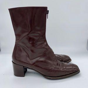 Van Eli zip up ankle boots size 9